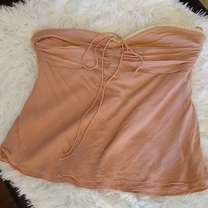 Theory Tops - Vintage Theory Tea Rose Pink Silk Tube Top